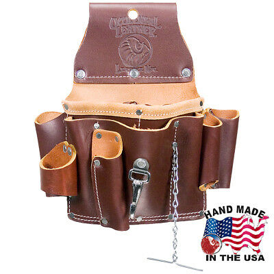 """Occidental Leather 15 Pocket Chain Electrician Tool Holder Pouch W/ 3"""" Belt"""