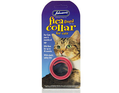 Johnsons Flea Guard Waterproof Plastic Collar for Cats