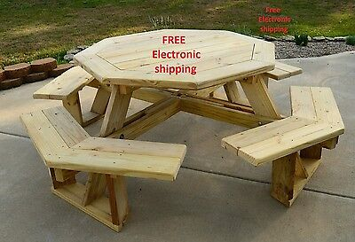 Classic Round Picnic Table Plans