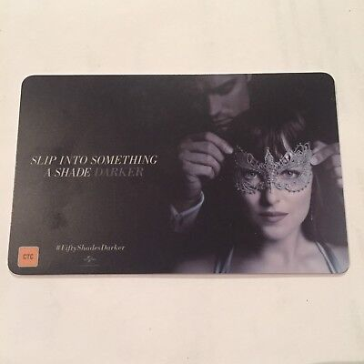 Fifty Shades Of Grey Event Cinemas Movie Gift Card NO VALUE