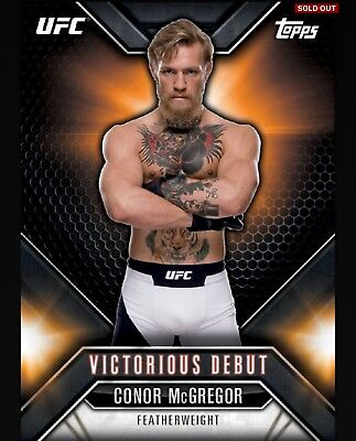 Conor McGregor Topps UFC Knockout Digital Inserts