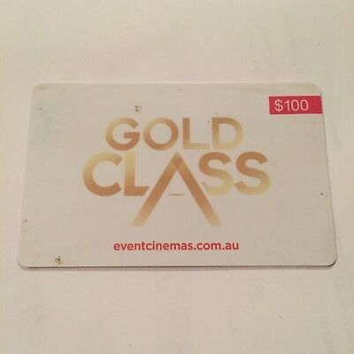 Gold Class Event Cinemas Movie Gift Card NO VALUE