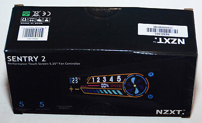 "NZXT Sentry 2 5.25"" Touch Screen Fan Controller NEUF"