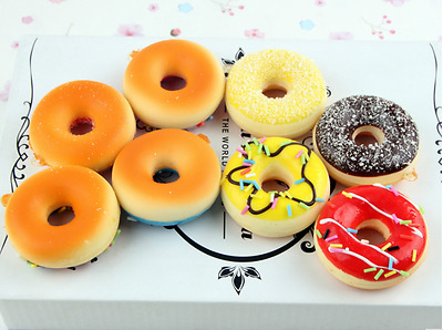 Slow Rising Squishy Toy Donut Soft Squeeze Toy Cute Donut
