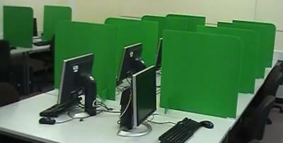 Box of 10 eScreens - Computer Exam Dividers - Create cubicles for exams