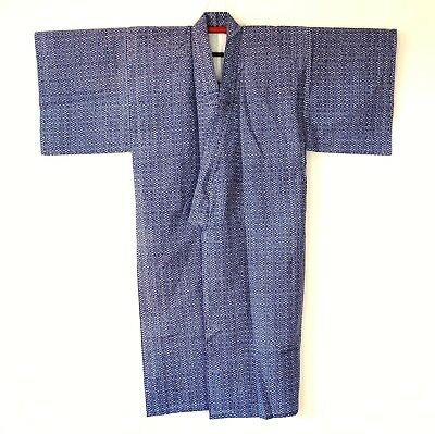 Japanese Vintage Men's Kimono Cotton Blue L93