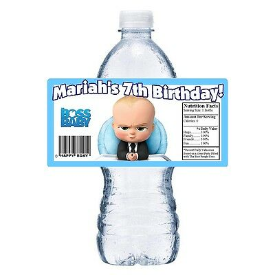 20 The Boss Baby Personalized Birthday Party Favors Favor Water Bottle Labels