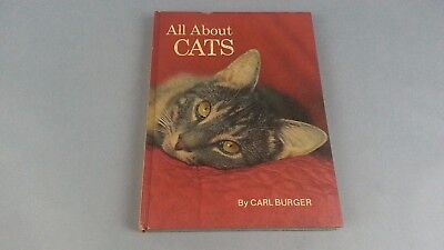 Cats Book By Carl Burger Retro Mid Century book 1966