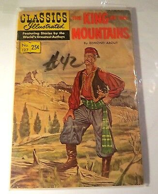Classic illustrated #127 King of the Mountain Golden Age Comic CB1285