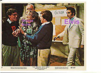 Elvis Presley Sheree North Trouble With Girls Original Vintage Lobby Card Candid