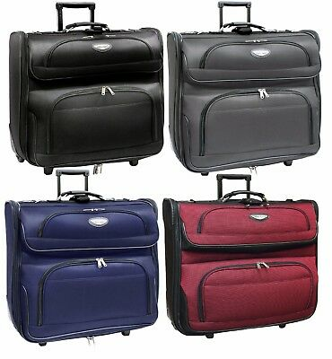 "Traveler Choice Amsterdam 23"" Wheel Rolling Upright Garment Bag Luggage Suitcase"