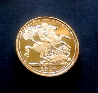 1914 Half Sovereign King George V. (Token)