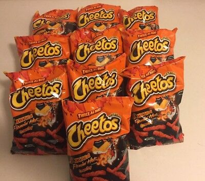 XXTRA  FLAMMIN' HOT CHEETOS 10 Pack Of 8.5 Ounce Bags Special For Halloween