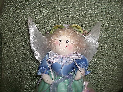 13 in. hand crafted  fabric Spring - Easter  Angel light weight very sweet