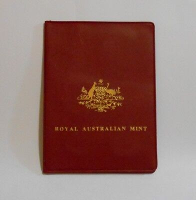 1981 Royal Australian Mint Uncirculated Coin Set - 5 Coins in Red Display Wallet