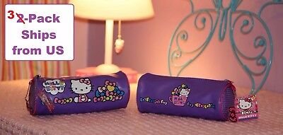 NEW Hello Kitty Purple Bag for Pencils, Cosmetics, Party Bags, Storage, Lot of 2
