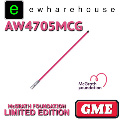 Gme Aw4705Mcg Pink Mcgrath Foundation Limited Edition Uhf Cb Aerial Antenna Whip