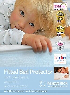 Hippychick Mattress Protector Fitted Sheet, 60 x 120 cm Cot