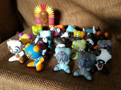 Lot of Radica UB Funkeys Game Figures Rare Htf some characters Euc non tested