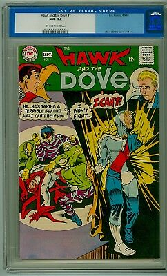 Hawk and the Dove #1 D.C. 1968 CGC 9.2 NM- 2nd Appearance