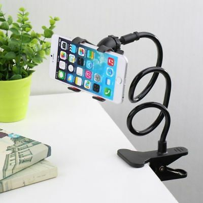 Flexible 360 Clip Mobile Cell Phone Holder Lazy Bed Desktop Bracket Mount Stand