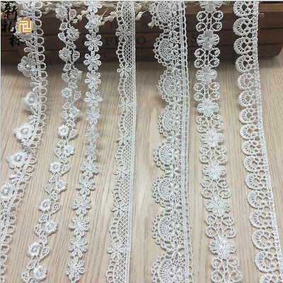 1/5/10Yd Vintage Cotton Crochet Lace Trim Wedding Bridal Ribbon Sewing Craft New
