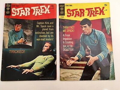 Gold Key Star Trek Comic Books Lot of 2 Silver Age #5 & #6 15 Cent 1969 TV