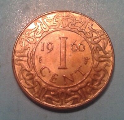 Suriname 1 Cent coin 1966