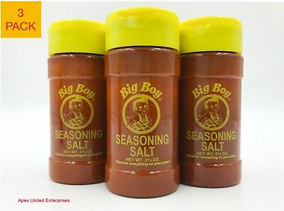 Bob's Big Boy Restaurant Seasoning Salt Authentic Original Fresh 3 Pack