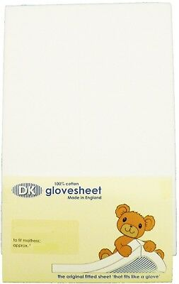 Cot Bed Fitted Sheet : 100% Combed Jersey Cotton Col WHITE To Fit Size 140 x 70