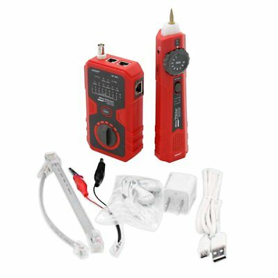 NF-803A Cable Line Locator Portable Wire Tracker RJ11 RJ45 BNC Cable Tester GT