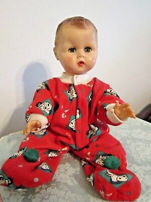 Vintage Soft Vinyl Face 1950-1960's Drink & Wet Baby Doll - Molded Hair