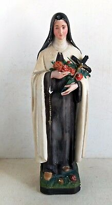 Vintage Plaster Statue of St. Therese, Mattei Bros & Co, No. 169, c1930s (6393)