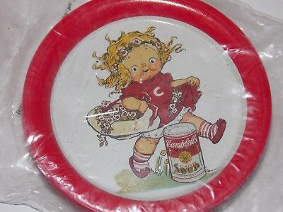 6 Pc Set Collectible Campbell Kids Tin Coasters - Nip