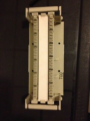 Bix Punch Down Block ( 2 rails & block ) telephone alarm security network