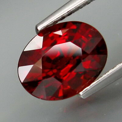 2.70Ct.Outstanding Color! Natural Red Spessartite Garnet Africa Good Cutting!