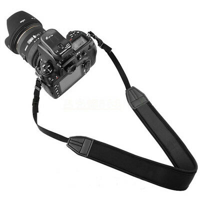 Black Adjustable Neoprene Neck Strap Shoulder Belt for Canon DSLR SLR Camera