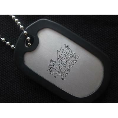 Dragon Military Dog Tag Necklace Pendent