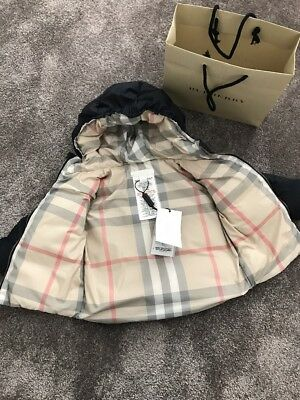 Burberry Baby Boy Reversible Down Puffer Jacket 3Months RRP£170