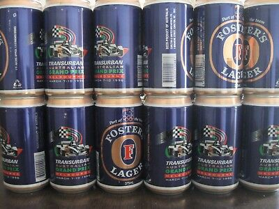 Fosters Beer 24 Cans Slab in Box Grand Prix First Melbourne GP 1996 Memorabilia