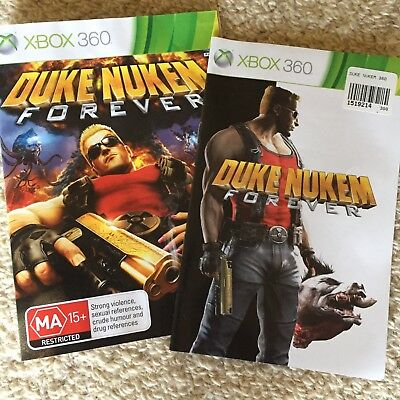Duke Nukem Forever Xbox 360 Replacement Artwork and Manual
