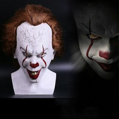 2017 Stephen King's It Mask Pennywise Clown Mask Scary Joker Costume Halloween