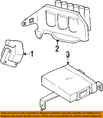 Genuine Mitsubishi Ignition Coil Pack 3000gt Dodge Stealth Turbo