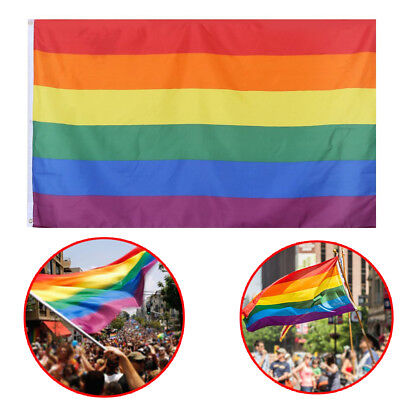GAY PRIDE LGBT RAINBOW FLAG FESTIVAL CARNIVAL DIVERSITY 5FT X 3FT UK Trend