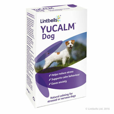 Lintbells YuCalm yucalm Calming Stress Tablets Dog Fireworks Anxiety 30 Tablets