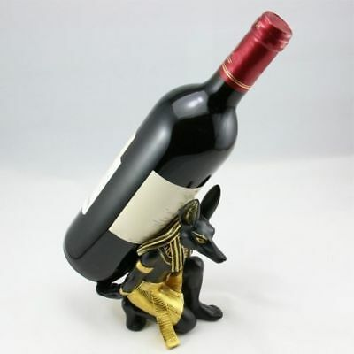 Anubis Egyptian God Statue Wine Rack Holder Stand Ancient Home Decor Egypt 1PCS
