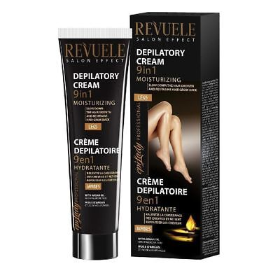 Hair Removal,Depilatory Moisturizing Cream, 9in1 REVUELE,Argan oil and hyaluron