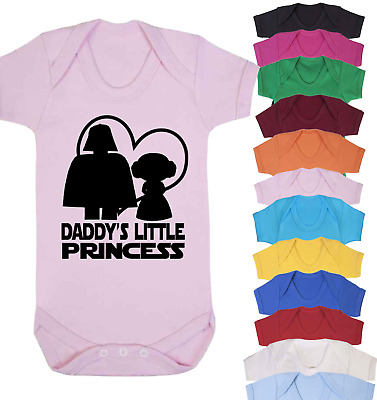 Daddy's Little Princess Baby Vest Babygrow Bodysuit Gifts Star Wars Inspired