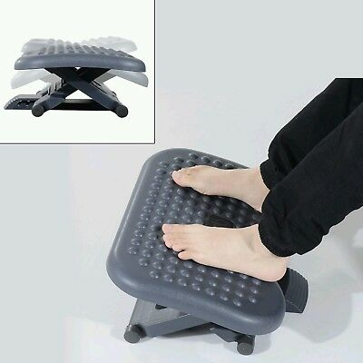 Office Home Footrest 3 Position Tilting Foot Stool Adjustable Height & Angle