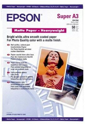 Epson (A3+) Heavy Weight Matte Paper (50 Sheets) 167gsm (White)